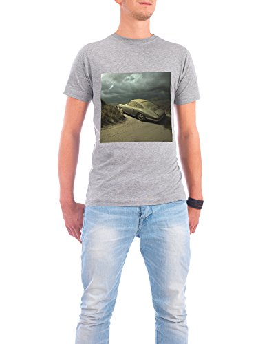 "Design T-Shirt Männer Continental Cotton ""Sad Story"" - stylisches Shirt Automobile Abstrakt Sport / Motorsport Fiktion von Surreal World Grau"