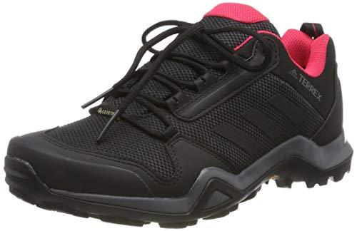 adidas Terrex Ax3 GTX W, Zapatillas de Senderismo para Mujer, Gris (Carbon/Core Black/Active Pink 0), 38 EU