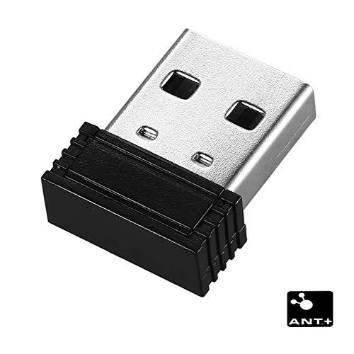 Adapter für ANT- und USB-Dongle, Bluetooth 4.0, Dongle für kabellose Synchronisation RC401 Schwarz (MEHRWEG) (Wahoo Herzfrequenzmonitor)