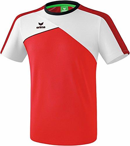 Erima Herren Premium One 2.0 T-Shirt rot/Weiß/Schwarz, L (Weiß Rot Und Shop)