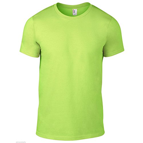Anvil Shirt Company (Anvil Herren Modern T-Shirt Gr. L / 106,68 cm-111,76 cm, neon green)