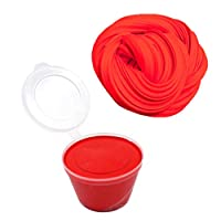 BIYI Universal Stress Relief Fluffy Floam Slime Craft Mud Toy Lightweight No Borax Cotton Slime Clay Portable Modeling Clay (red)