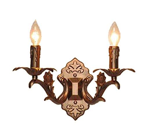 Europäischen Stil Retro Kupfer, Kerze Doppel-Wand-Lampe, Aisle Spiegel Scheinwerfer, Schlafzimmer Wohnzimmer, Esszimmer, Beleuchtung, High 11,8 (Zoll),Bronze