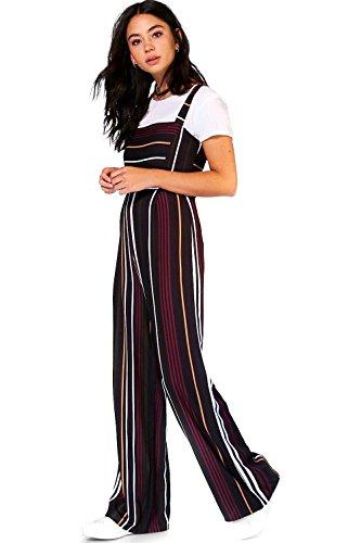 Noir Femme Lorraine Striped Jumpsuit Noir