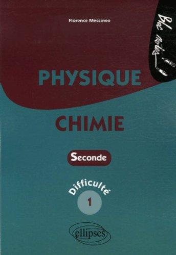 Physique-Chimie 2e : Niveau de difficulté 1