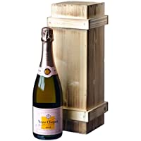 Veuve Clicquot Rosé Champagner in Holzkiste DGN geflammt (1 x 0.75 l)