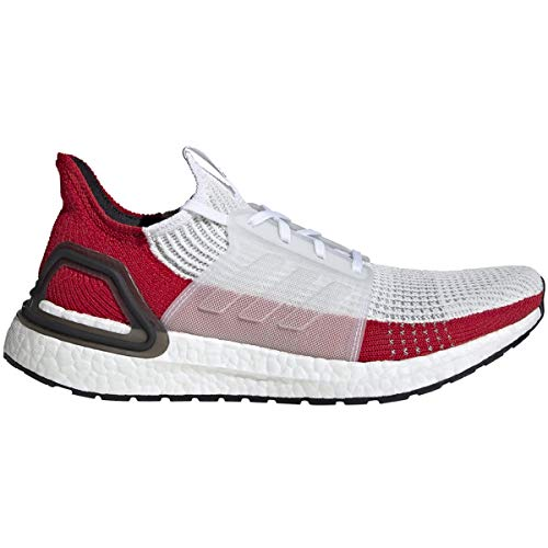 adidas Mens Ultraboost 19 M White/RED Shoe - EF1341