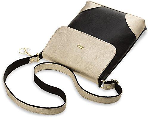 Damentasche City – Tasche Umhängetasche Schultertasche Messengerbag (gold) gold