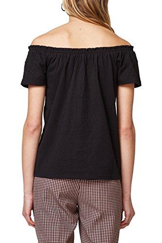 edc by ESPRIT Damen T-Shirt Schwarz (Black 001)