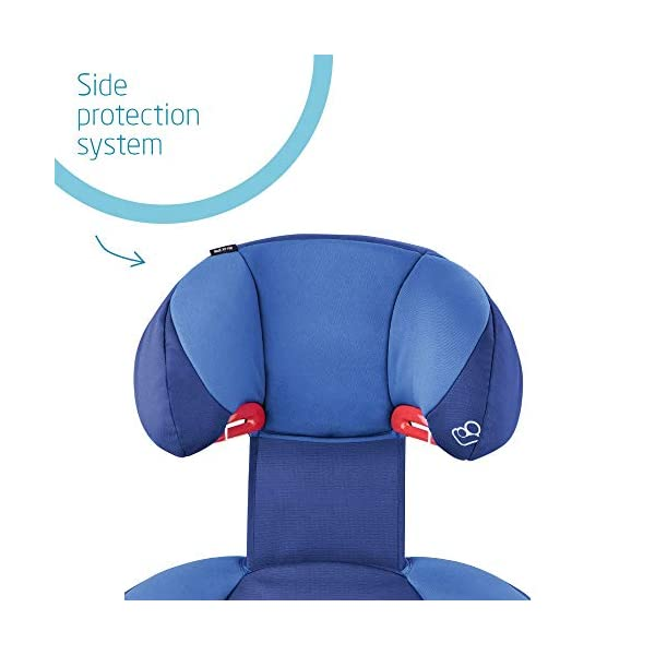 Maxi-Cosi Rodi XP FIX Child Car Seat, ISOFIX Booster Car Seat, Lightweight, 3.5-12 Years, 15-36 kg, Electric Blue Maxi-Cosi Booster car seat for children from 15 to 36 kg (3.5 to 12 years) Side protection system for optimal protection against side impact for head, lower back and hips Backrest of this lightweight car seat grows along with child in length and width 3