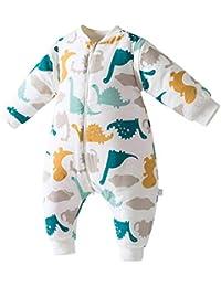 Happy cherry - Saco de Dormir Acolchado de Algodón para Bebé para Invierno Bolsa Dormida con