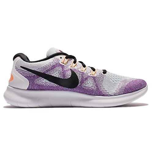 Nike Free Rn 2017, Chaussures de Running Compétition Femme Multicolore (Off White/black-hot Punch-chlorine Blue)
