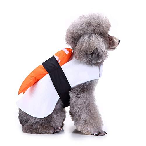 Livecity Lustiges kreatives Lachs-Sushi-Muster, Haustier-Outfit, warm, für Hunde und Katzen, Halloween, Weihnachten