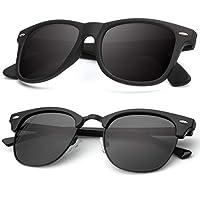 نظارات شمسية مستقطبة للرجال للنساء، إطار شبه بدون إطار للقيادة نظارات الشمس: حجب الأشعة فوق البنفسجية بنسبة 100% - - M