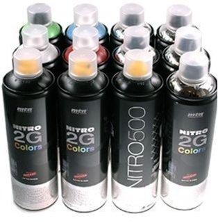 Pintura en spray MTN 2G Plata Cromada 500 ml