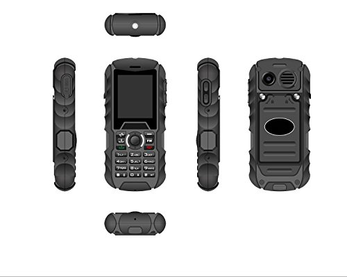 Bestore® H1 robusto mobile Telefono esterno (Dual SIM, 2,0 pollici (5,08 centimetri) Display) Nero