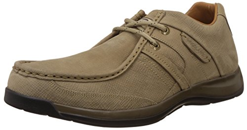 Woodland Men's Dark Khaki Leather Sneakers - 7 UK/India (41 EU)  available at amazon for Rs.2157