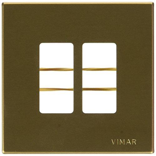 VIMAR Serie 8000 Placca 2 Fori Con Supporto Bronzo