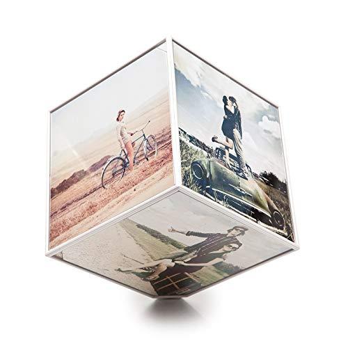 Balvi-kubeportafotogiratorioper6fotodi15x15cm.richiedeunabatteriaaa(noninclusa)