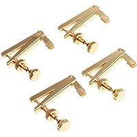 Kmise 3/4/4 Cello ajustadores de cuerda Cello afinador de cuerdas de oro de ajuste de 4 unidades