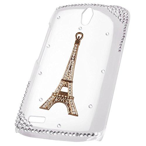 xhorizon® Luxus Blinkend 3D Handgefertigt Strass Diamant Kristall Hart Rück Case Hülle für iPhone 5/5s Turm