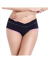 Bragas Confortable Para Mujer Embarazada De Algodón De Cintura Bajo De Suave Material 5 Color Puede Elegir