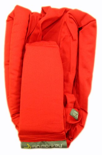 Minimonkey–Pañuelo portabebés, color rojo