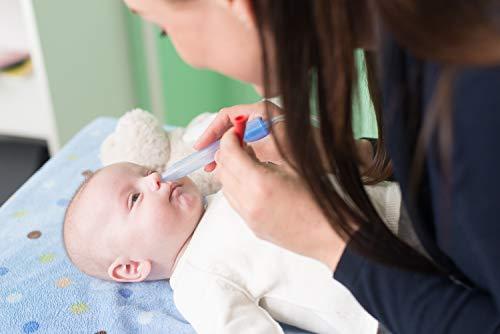 Rotho Babydesign Nasensekretsauger, Inkl. 4 Hygienefilter, Nachfüllbar, Ab 0 Monaten, NoseFrida, 50x2,3x2,3cm,  Blau/Weiß, 200830012 - 5