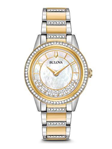 Bulova Reloj Analógico para Mujer de Cuarzo con Correa en Acero Inoxidable 98L245
