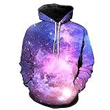 Sannysis Herren Slim Fit Hoodie Unisex 3D Druck Hoodies Kapuzenpullover Langarm Galaxy Bunte Pullover Kapuzenpulli Sweatshirt S -5XL