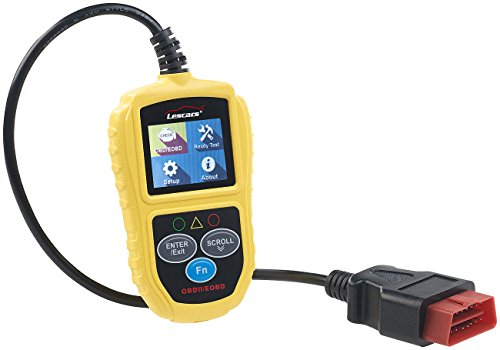 Lescars Motor Diagnosegerät: Universelles OBD2-Diagnosegerät, 5,1-cm-Farb-Display, bis zu 300 Codes (Auslesegerät)