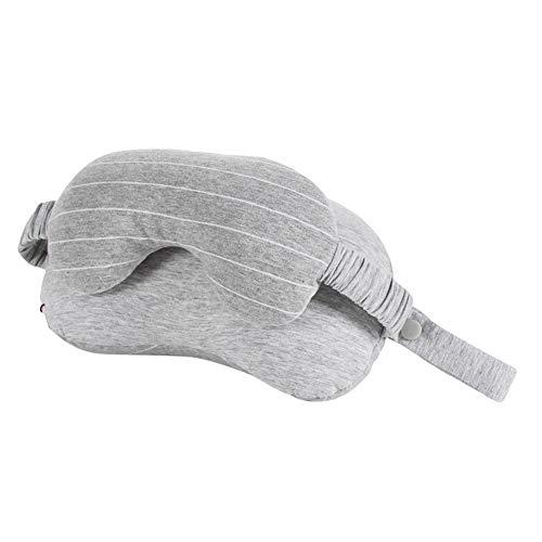 xMxDESiZ Portable Multifunctional Eye Mask Neck Pillow Cushion Travel Sleeping Eyepatch Light Gray