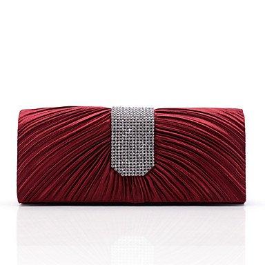 pwne L. In West Frauen Elegante Hochwertige Diamanten Rüschen Am Abend Tasche Red