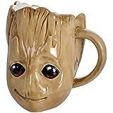 Guardas de la taza Galaxy Groot 3d marrón cerámica