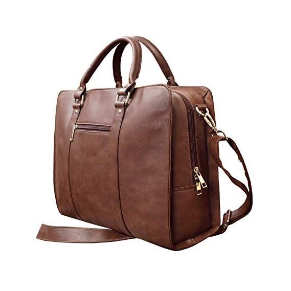 ABYS Vegan Leather Coffee Brown Men's Laptop Messenger Shoulder Bag||Office Bag||Sling Bag for Removable Starp