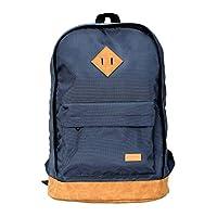 بروميت حقيبة ظهر للابتوب ,متعددة الوظائف مقاومة للماء ريترو مع سعة كبيرة للامان ,جيب للاكسسوارات و حزام قابل للتعديل لماك بوك برو, ايباد برو, لينوفو, HP,ازرق داكن