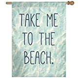 Dozili Flagge Take Me to The Beach Heimdekoration Gartenflagge wetterfest & doppelseitig Hofflagge, Polyester, bunt, 28