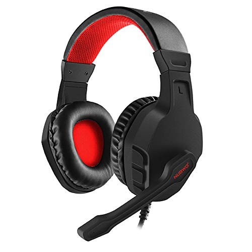 LRWEY Overhead-Kopfhörer`, U3 Gaming Headset Stereo PC Gaming Headset mit Geräuschunterdrückung, für PS4 Game PC, iPhone, iPad, Samsung, Huawei,Tablet usw. (Rot)