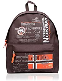 Geographical Norway Mochila Print Marrón