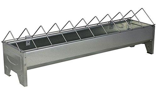La Ferme Sauvegrain Mangeoire Linéaire en Métal Galvanisé - 50 cm