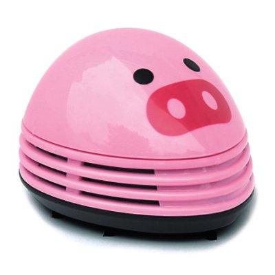 niceeshop(TM) Schwein Muster Batteriebetrieben Tisch Staubsauger Mini Staub Reiniger,Rosa -