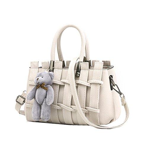 Borse Yy.f Nuove Borse Borse Moda Dolce Sacchetti Di Spalla Del Messaggero Multicolore Borse Tuta White
