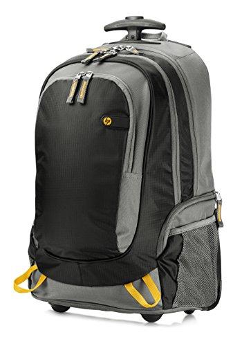 HP (J6X32AA) Rollen-Rucksack (für Notebooks, Laptops, mit höhenverstellbaren Griff) 39,62 cm (15,6 Zoll) schwarz/grau