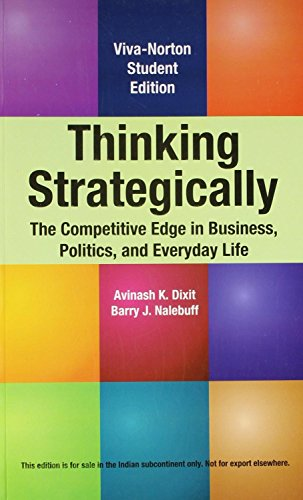 Thinking Strategically [Paperback] [Jan 01, 2017] VIVA BOOKS PRIVATE LIMITED