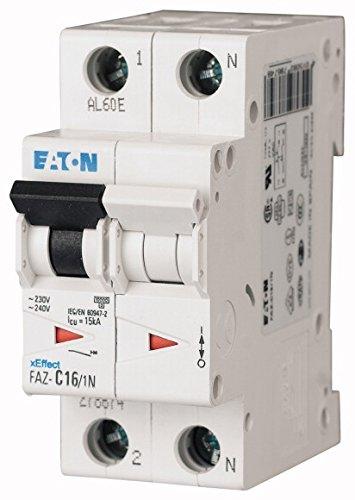 EATON FAZ-C63/1N Interruptor Automático Magnetotérmico FAZ, 63A, 1P+N, Curva C