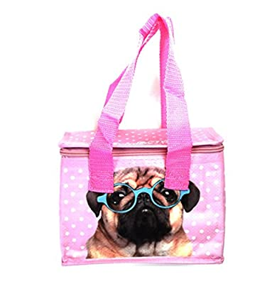 Fish Around Woven Cool Bag Lunch Box - Jack Evans Pink Pug