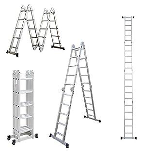 Profi 8 - 20 Stufen Mehrzweckleiter Leiter Aluleiter Steigleiter Klappleiter Bockleiter Alu Malerleiter (4x5 Stufen)