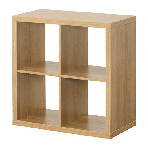 Kallax Ikea Regal - Bibliothek, ideal für Körbe oder boxes-77 x 77 cm Oak Effect -