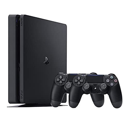 PlayStation 4 - Konsole (500GB, schwarz, slim) inkl. 2. DualShock Controller (Sony Playstation 4 Preis)