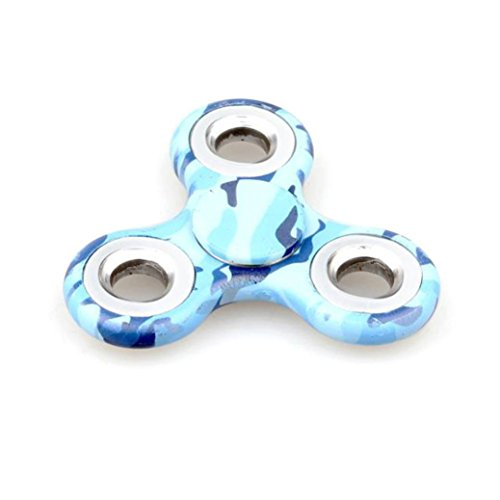 Preisvergleich Produktbild Saingace Tri-Spinner Fidget Hand Spinner Camouflage Multi-Color, EDC Focus Spielzeug für Kinder & Erwachsene (Mehrfarbig)